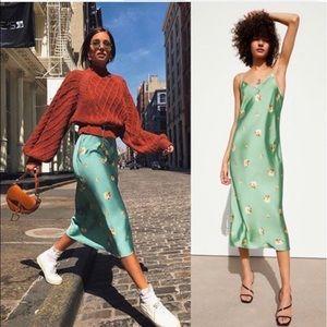 Zara Floral Maxi Slip Dress